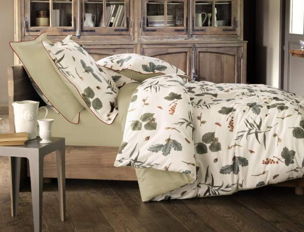 Linge de lit balade en sologne - Parure de lit flanelle 2 personnes ...