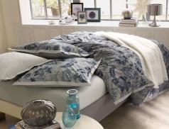 Linge de lit Bleu batik