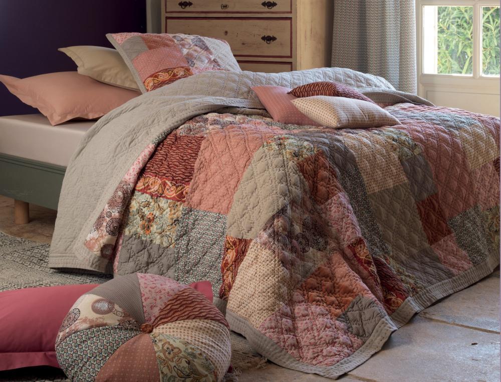 boutis terres d 39 ocres. Black Bedroom Furniture Sets. Home Design Ideas