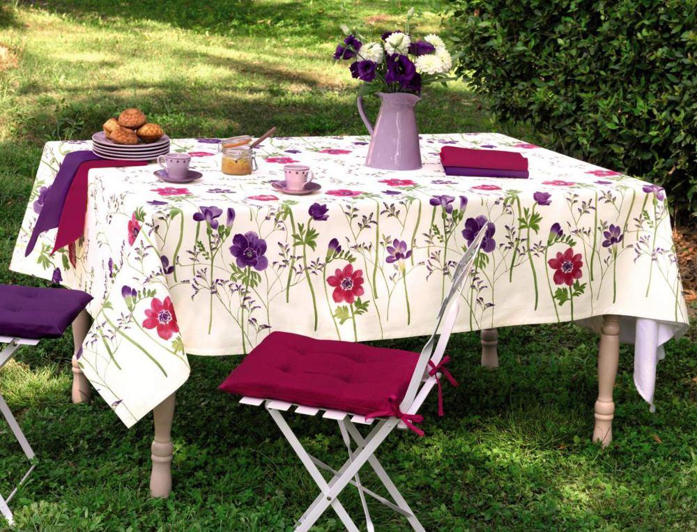 Herbe en fleurs - Set de table coton ...