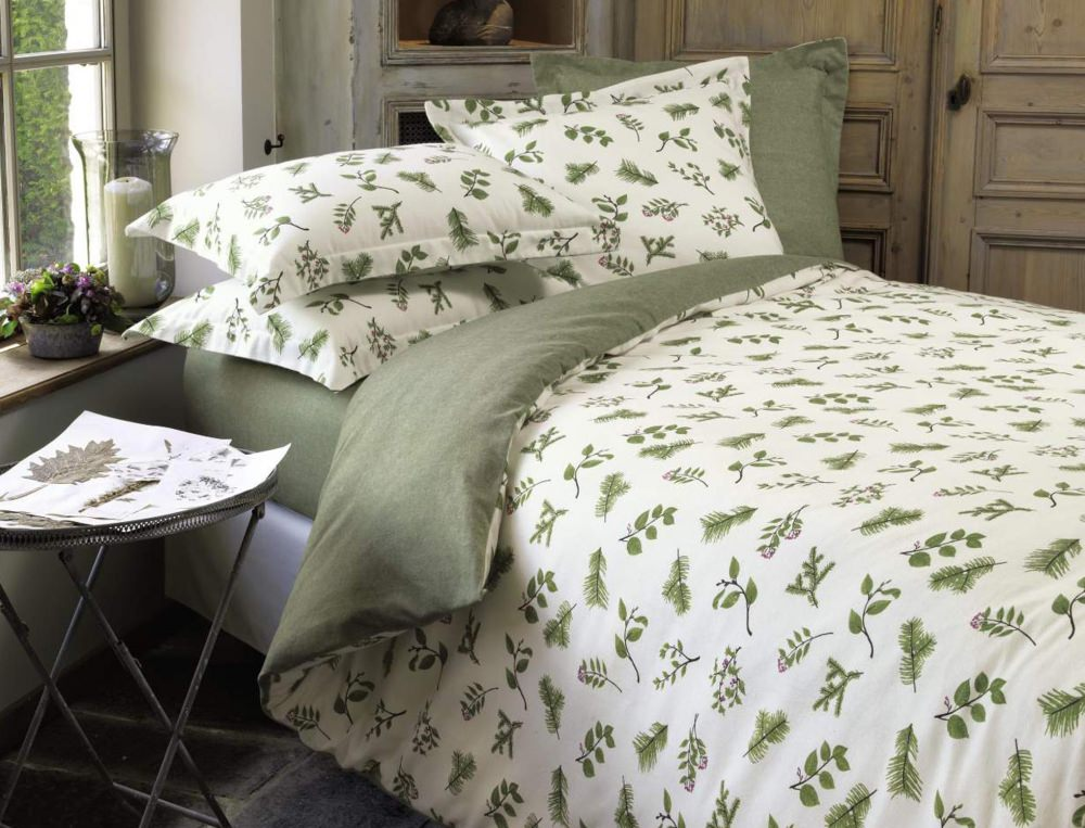 Linge de lit l 39 or e du bois - Linge de lit flanelle ...