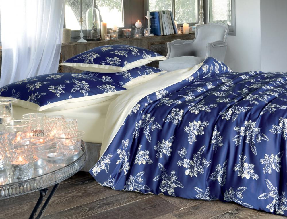 linge de lit bleu de minuit. Black Bedroom Furniture Sets. Home Design Ideas