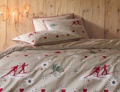 Linge de lit 100% coton Descente aux flambeaux