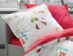 Linge de lit enfant 100% coton Les animaux de la forêt