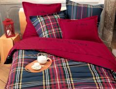 Linge de lit flanelle Piste rouge