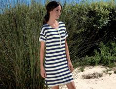 Robe de plage rayée Santorin
