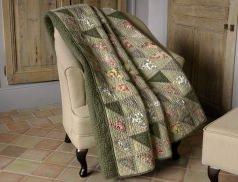Boutis esprit patchwork anglais Sardane