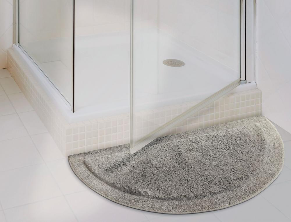 Tapis de bain bath demi lune for Ensemble tapis salle de bain
