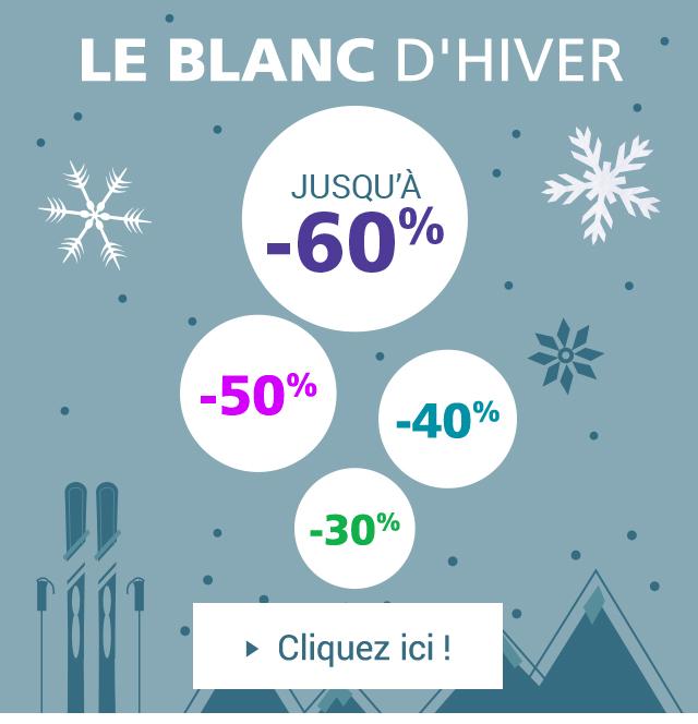 Le blanc d'hiver de Linvosges : jusqu'à -60% !