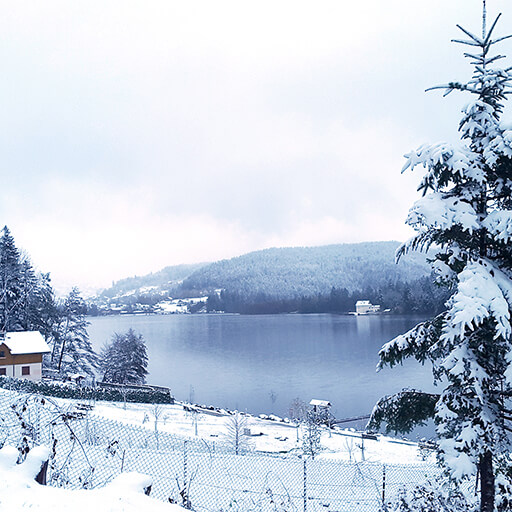lac gérardmer en hiver