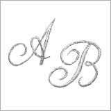 Broderie monogramme modèle Arabesque