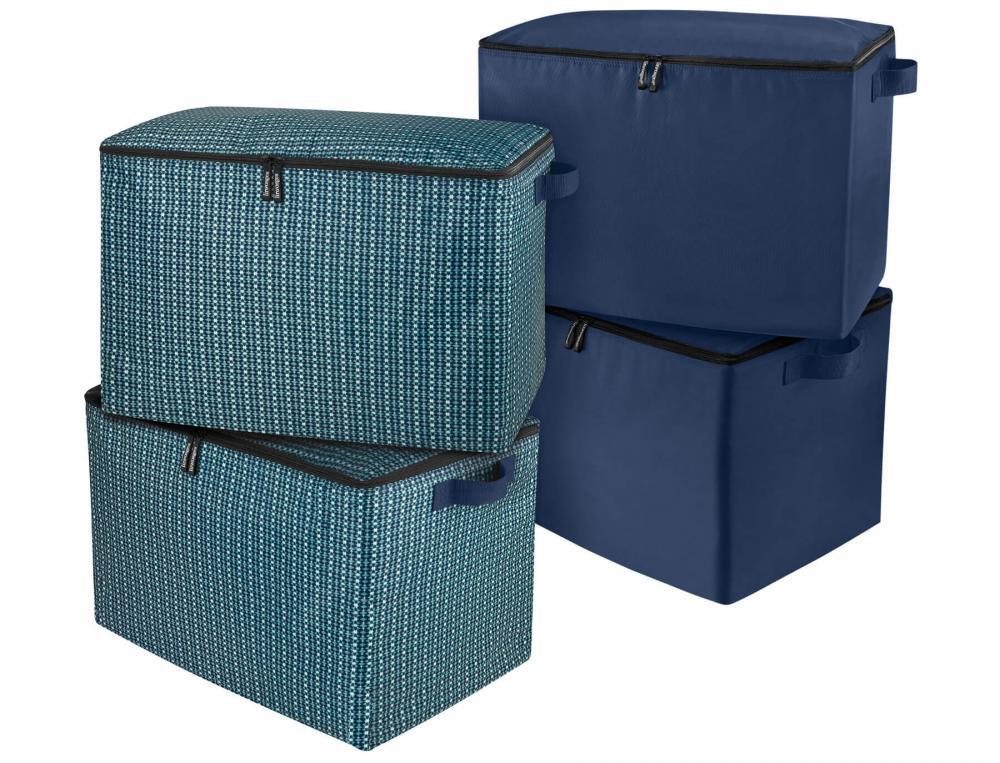 2er-Pack Aufbewahrungsboxen Zuhause und Unterwegs Linvosges
