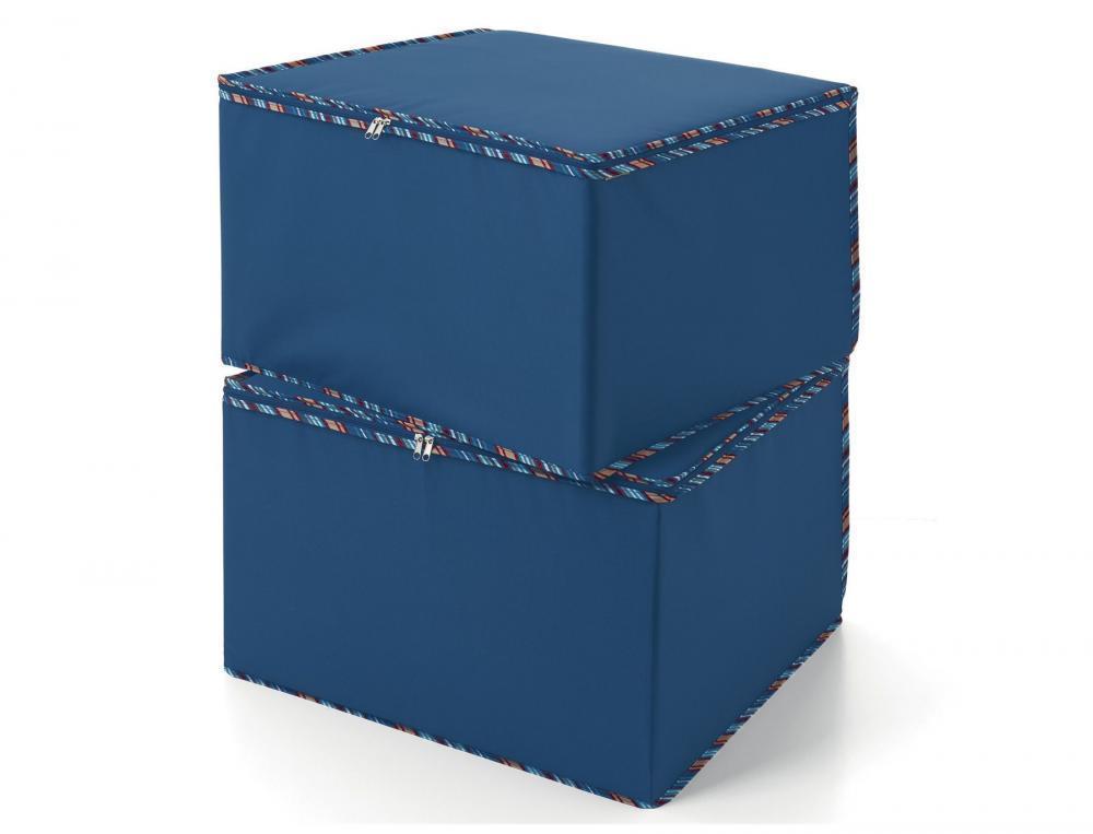 2er-Pack Mehrzweckboxen Ankleidezimmer blau Linvosges