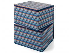 2er-Pack Mehrzweckboxen Ankleidezimmer gestreift Linvosges