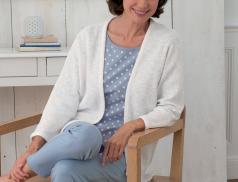 Veste blanche 100% coton Alexandra