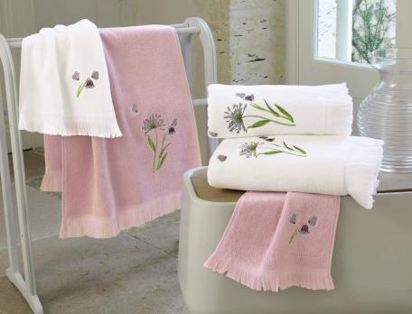Linge de bain brodé Anne-Flore