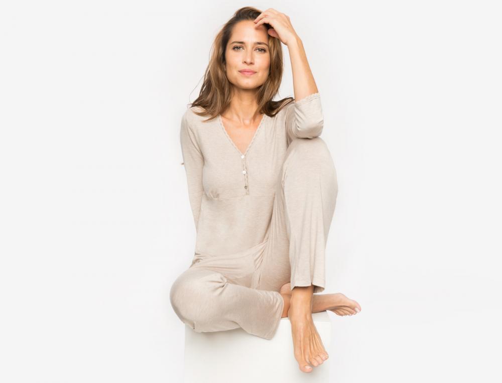 Pyjama en jersey chiné Aurore