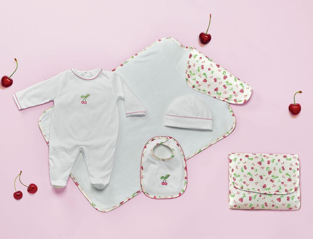 Baby-Set Süße Kirsche Baumwolle Linvosges
