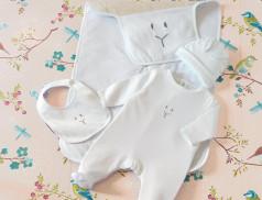 Zweiteiler, Baby-Set, Schlafsack Kleiner Hase