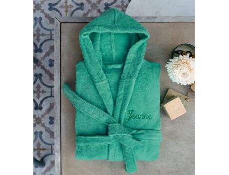 Bademantel einfarbig Entspannungsoase Baumwolle Linvosges