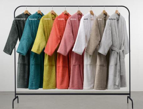 Bademantel einfarbig Morgenstimmung Baumwolle Modal Linvosges