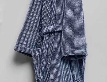 Bademantel für Ihn Morgentau Jacquard Baumwolle Linvosges