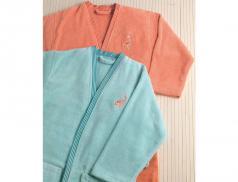 Frottee Bademantel im Kimono Stil