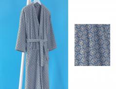 Frottee Kimono-Still Bademantel