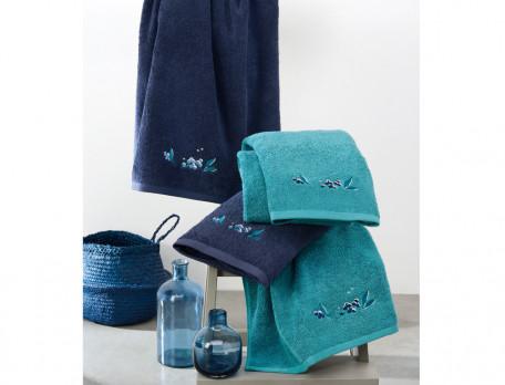 Badtextilien Blaubeere Baumwolle Linvosges