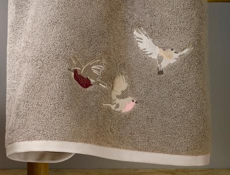 Badtextilien Vogelgesang Baumwolle Linvosges