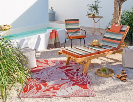 Matelas bain de soleil tissé-teint rayé Roussillon