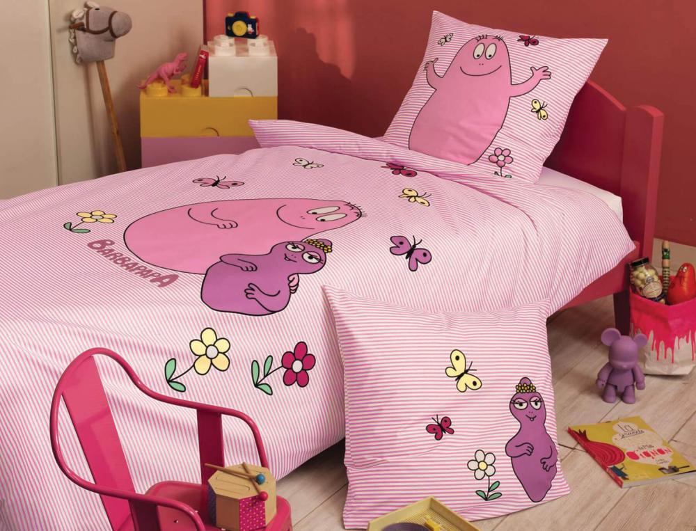 Parure de lit enfant imprimé Barbapapa