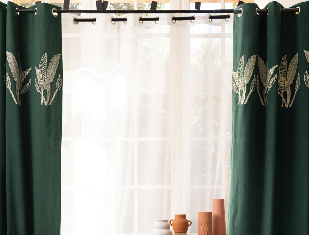 Baumwoll-Vorhang Blätterzauber