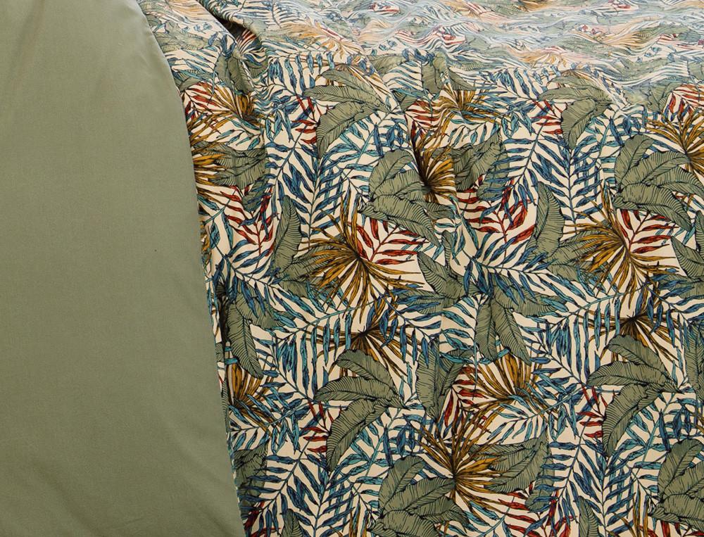Bettwäsche Pflanzen-Motiv Blättermeer