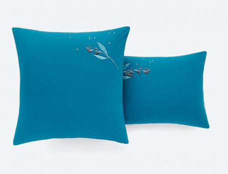 Bettwäsche Blaubeere Perkal Baumwolle Linvosges