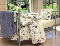 Bettwaesche Blaue Blume Perkal Baumwolle