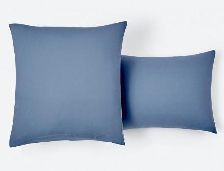 Bettwäsche Blaue Stimmung Perkal Baumwolle Linvosges