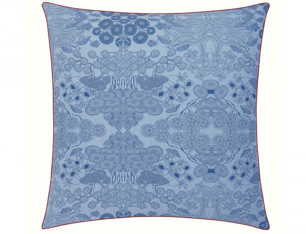 Bettwäsche Blaues Porzellan Perkal Baumwolle Linvosges