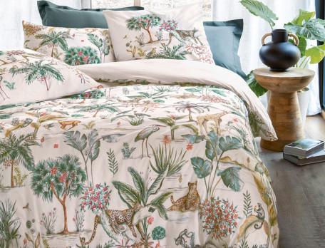 Bettwäsche Pflanzen- und Tiermotiv Dschungeloase