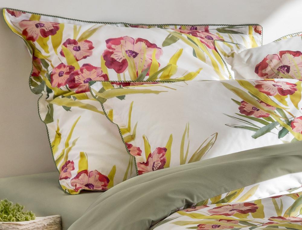 Bettwäsche Blumenmotiv Reißverschluss Hawaii