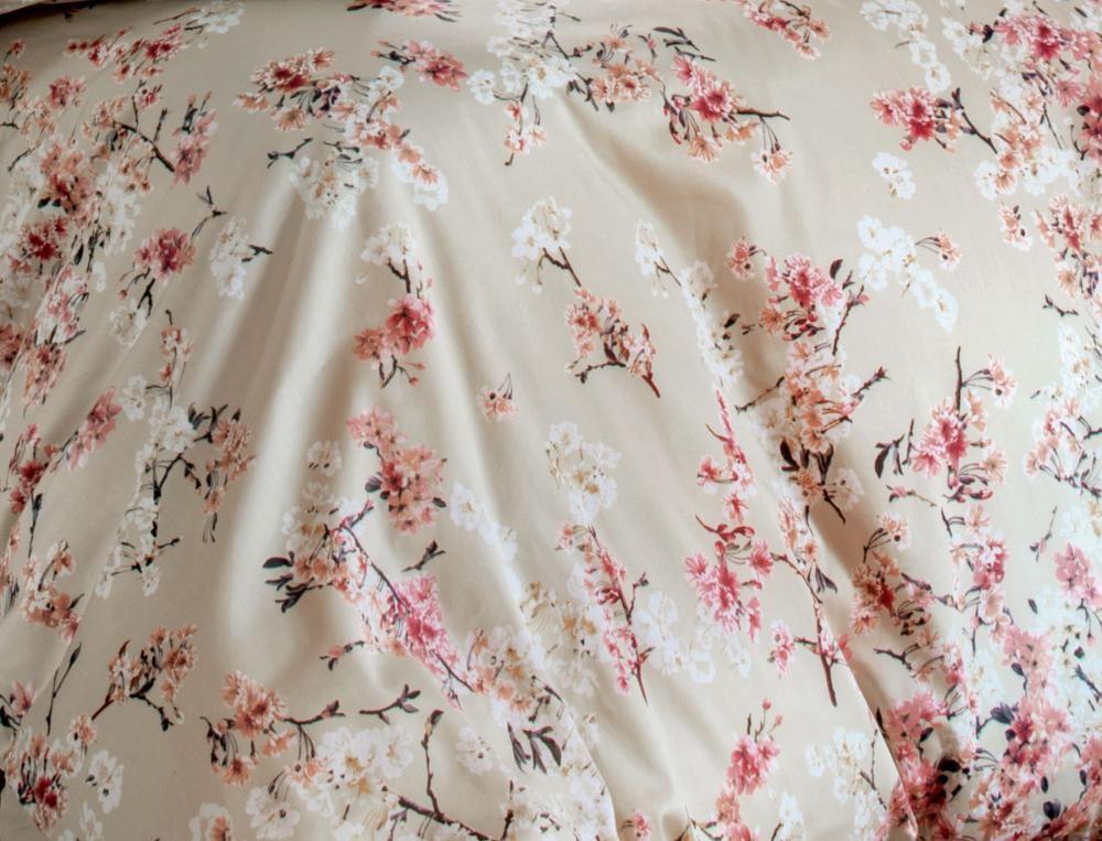 Bettwäsche Japanische Blüte Satin Baummwolle