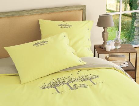 bettw sche mit motiv landpartie linvosges. Black Bedroom Furniture Sets. Home Design Ideas