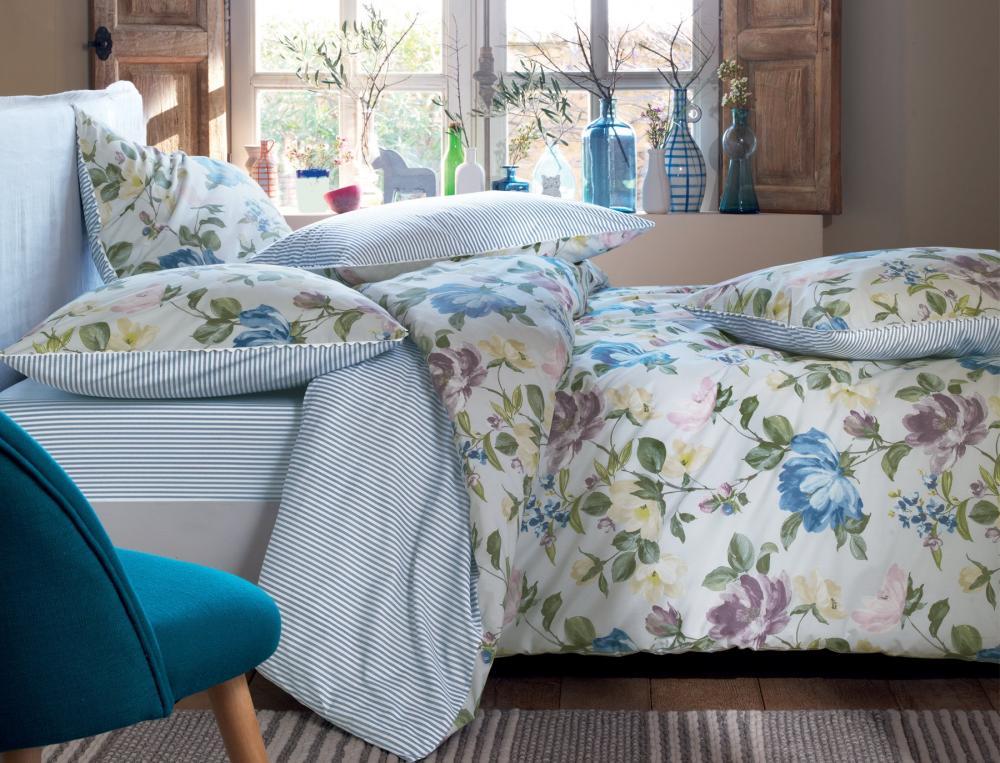 bettw sche mit motiv maries garten linvosges. Black Bedroom Furniture Sets. Home Design Ideas