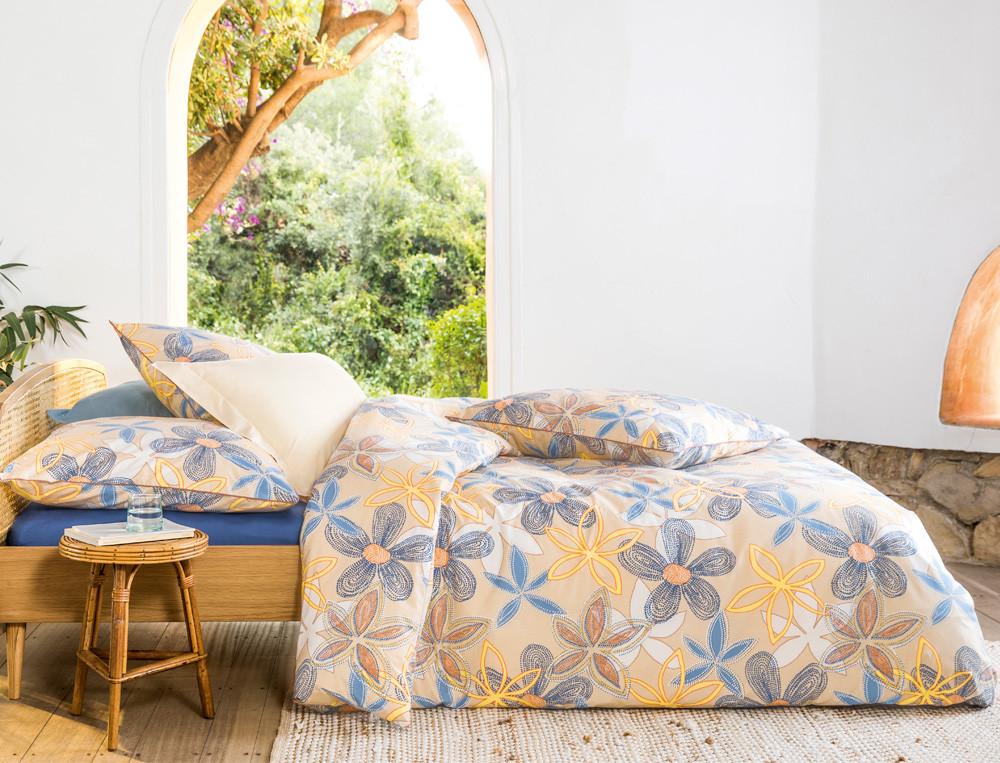 Bettwäsche beidseitig bedruckt Perkal Traum von Bali