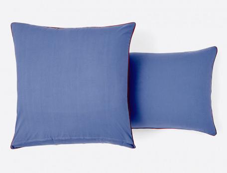 Linge de lit Bleu porcelaine percale 100% coton