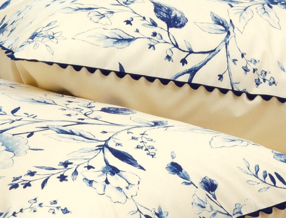 Linge de lit percale Bleu Tiffany