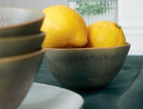 2 bols en grès couleur olive Pause déjeuner