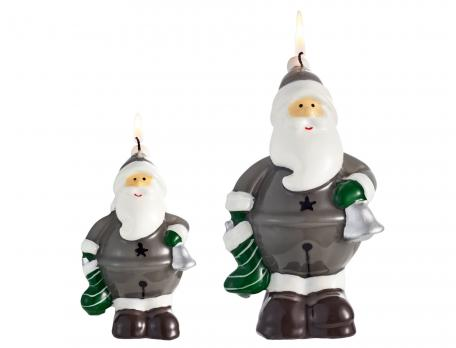 2 bougies Père Noël Table de fête