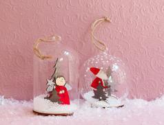 2 boules neige en verre Noël à Londres