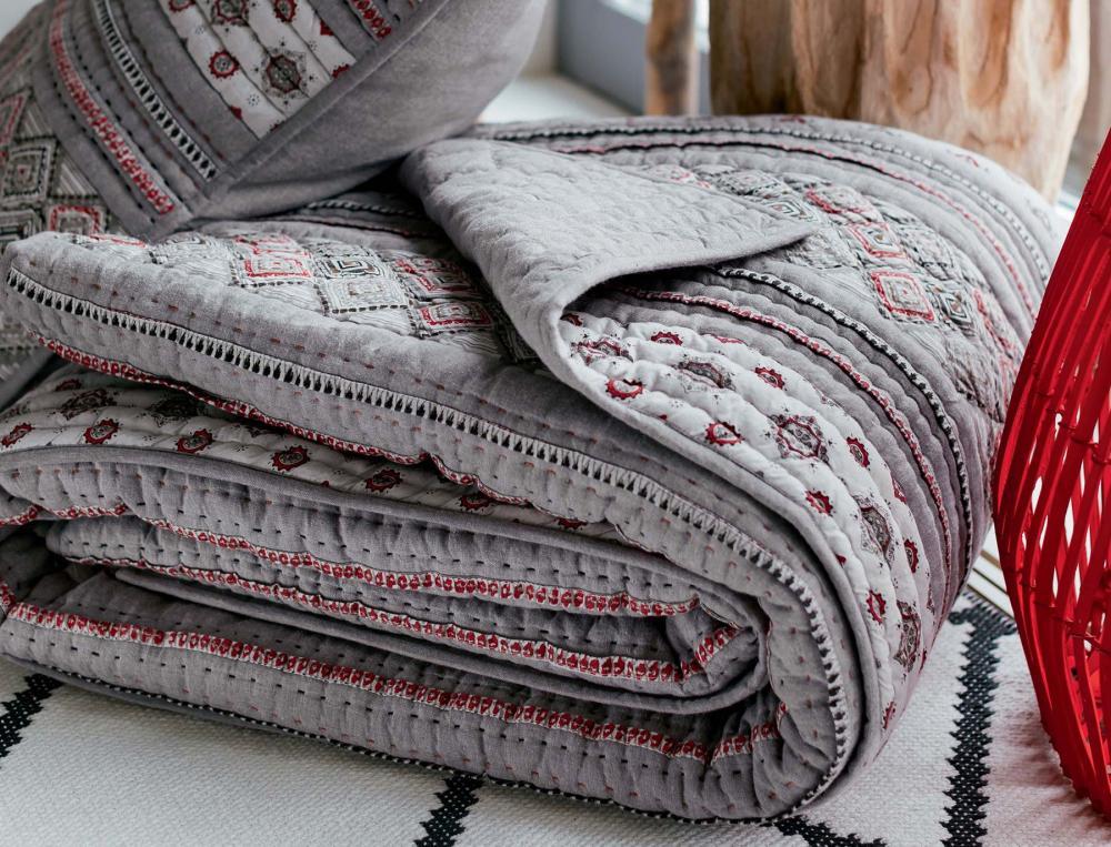 Boutis patchwork En gris majeur